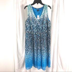 NWT Ann Taylor Leopard Print Dress, Size 12P